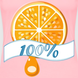100%orange - Women's Premium T-Shirt