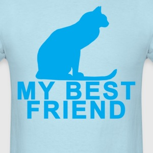 my_best_friend_cat_ - Men's T-Shirt