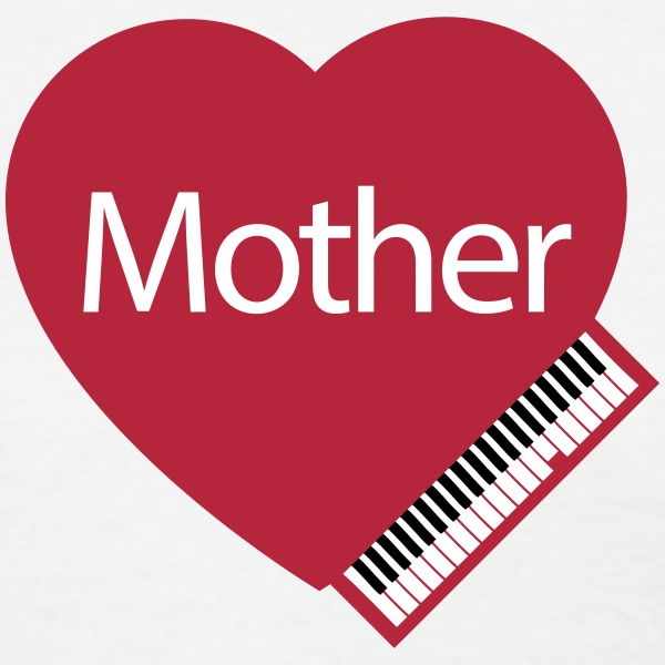 Mother's Day Heart and Piano - Women's T-Shirt
