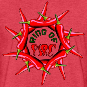 Ring Of Fire - Fitted Cotton/Poly T-Shirt by Next Level
