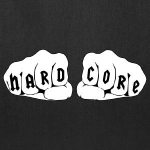 Hardcore Fists Rave Quote Bags & backpacks - Tote Bag
