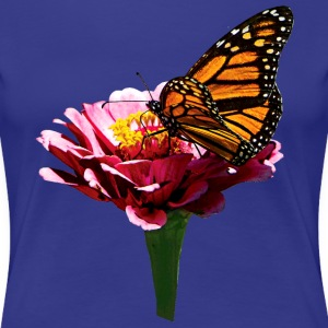 Monarch Butterfly on Pink T-Shirts - Women's Premium T-Shirt