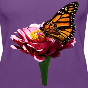 Monarch Butterfly on Pink Tanks - Women's Premium Tank Top