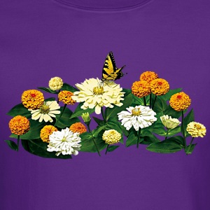 Tiger Swallowtail Butterfly on Zinnias Long Sleeve Shirts - Crewneck Sweatshirt