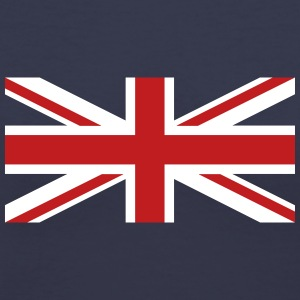 Union Jack velvety T-Shirts - Women's V-Neck T-Shirt
