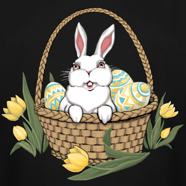 Easter T-shirts Tall Easter Bunny Basket Shirts