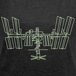 Space station ISS T-Shirts - Women's Roll Cuff T-Shirt
