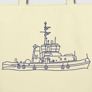 Tug or towing boat Bags & backpacks - Eco-Friendly Cotton Tote
