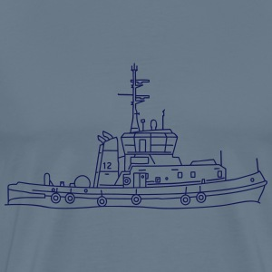 Tug or towing boat T-Shirts - Men's Premium T-Shirt