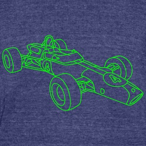 Racecar / racing car T-Shirts - Unisex Tri-Blend T-Shirt by American Apparel