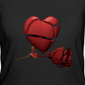 Red Heart and Red Rose Women's T-Shirt - Women's 50/50 T-Shirt