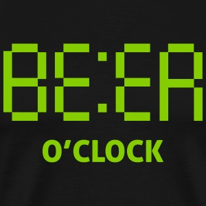 beer o clock T-Shirts - Men's Premium T-Shirt