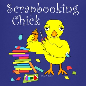 Scrapbooking Chick White Text Kids' Shirts - Kids' Premium T-Shirt