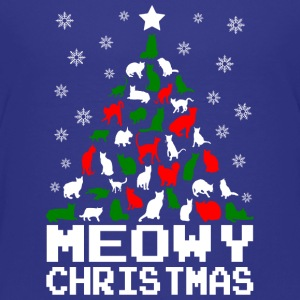 Meowy Christmas Cat Tree Ugly Kids' Shirts - Kids' Premium T-Shirt
