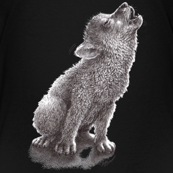Little Howling Wolf - Kids' Premium T-Shirt