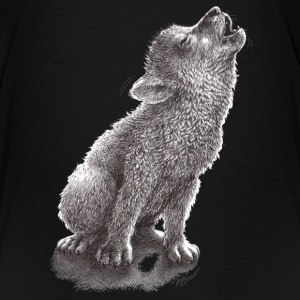 Funny Howling Wolf - Kids' Premium T-Shirt