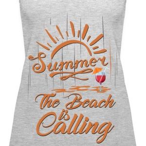 The Beach is Calling Tanks - Women's Premium Tank Top