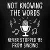 Not Knowing The Words - Men's T-Shirt