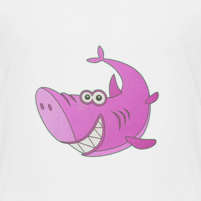 Big Pink Cartoon Shark