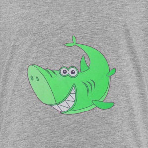 Big Green Cartoon Shark - Kids' Premium T-Shirt