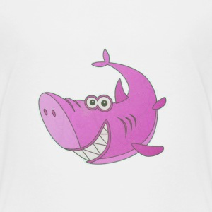 Big Pink Cartoon Shark - Kids' Premium T-Shirt