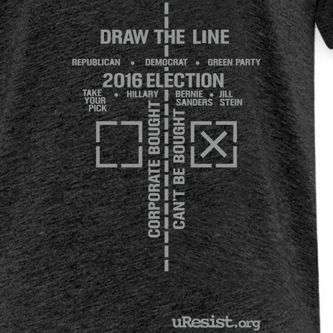 * 2016 Draw The Line * (velveteen print)