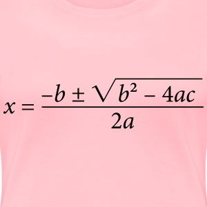 Quadratic Formula - Women's Premium T-Shirt
