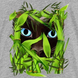 Siamese Cat Eyes in Bamboo - Kids' Premium T-Shirt
