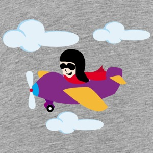Boy flying by plane Kids' Shirts - Kids' Premium T-Shirt
