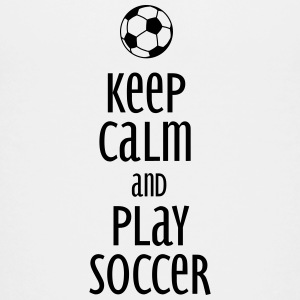 keep calm and play soccer Kids' Shirts - Kids' Premium T-Shirt