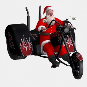 Santa and his custom trike - Kids' Premium T-Shirt