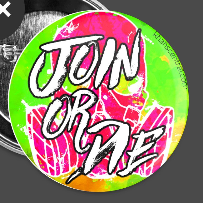 Join or Die Buttons (5 Pack)