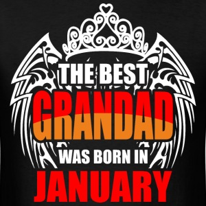 The Best Grandad was Born in January - Men's T-Shirt