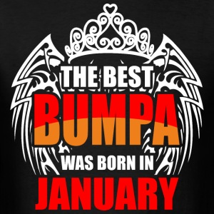 The Best Bumpa was Born in January - Men's T-Shirt