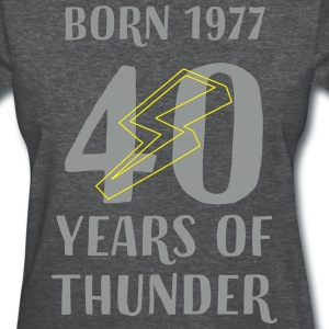 40 YEARS OF THUNDER T-Shirts - Women's T-Shirt