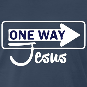 Catholic design - One WayJesus T-Shirts - Men's Premium T-Shirt