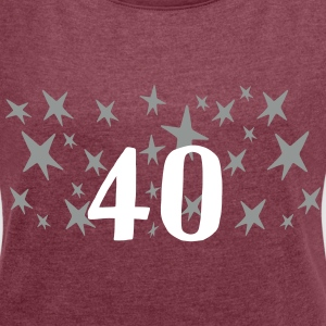 40 Stars T-Shirts - Women´s Roll Cuff T-Shirt