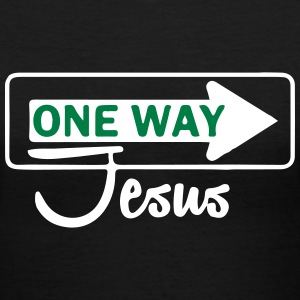 Catholic design - One WayJesus T-Shirts - Women's V-Neck T-Shirt