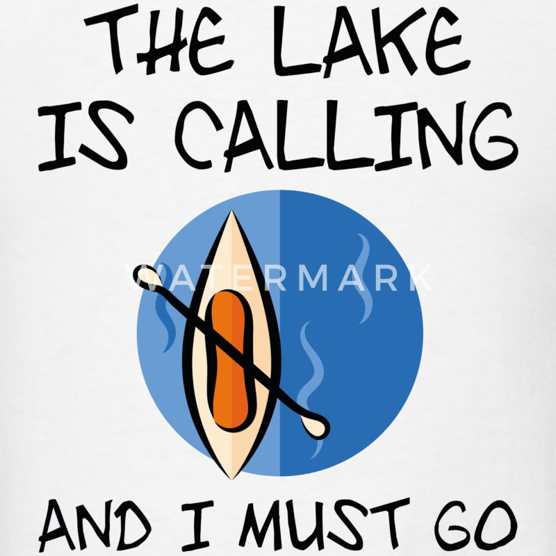 The Lake Is Calling - Men's T-Shirt