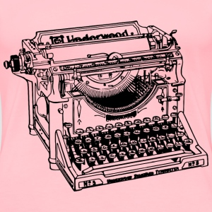 Simple Old Typewriter - Women's Premium T-Shirt