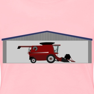 Combine harvester in shed - Women's Premium T-Shirt