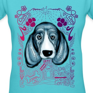 dog story telling - Women's V-Neck T-Shirt