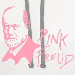 PINK FREUD High Quality Printing for Clear Colors Hoodies - Contrast Hoodie