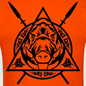 Tribal Boar head T-Shirts - Men's T-Shirt