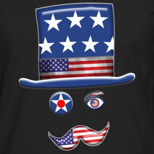 Stars And Stripes Man. - Men's Premium Long Sleeve T-Shirt
