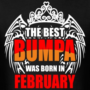 The Best Bumpa was Born in February - Men's T-Shirt