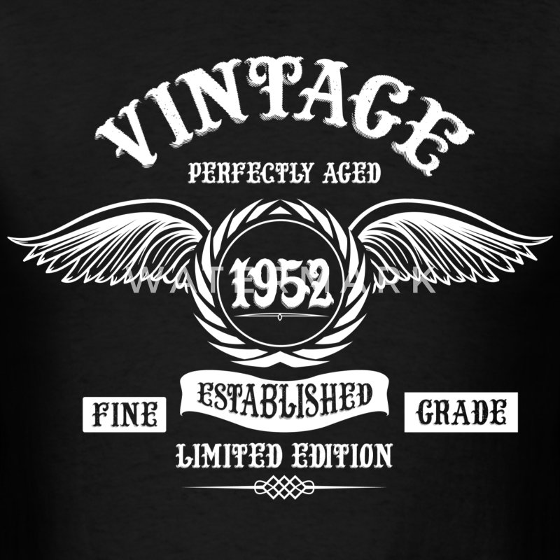 Vintage Perfectly Aged 1952 T-Shirts - Men's T-Shirt