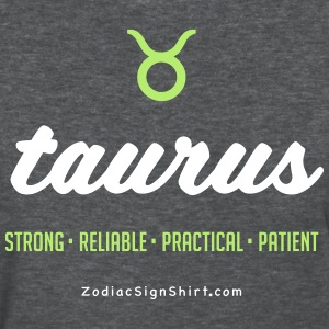 Taurus Script Zodiac - Women's White, Green and Da - Women's T-Shirt