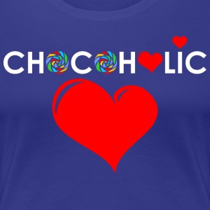 Chocolate Lover with Red Heart T-Shirts - Women's Premium T-Shirt