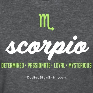 Scorpio Script Zodiac - Women's White, Green and D - Women's T-Shirt